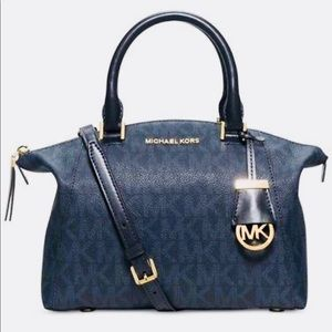 Michael Kors Riley Baltic Blue Small Satchel bag
